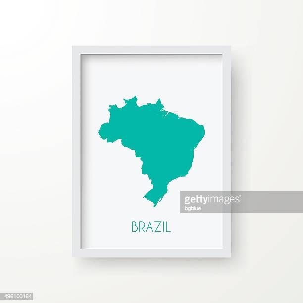 Brasilien Karte Frame auf weißem Hintergrund