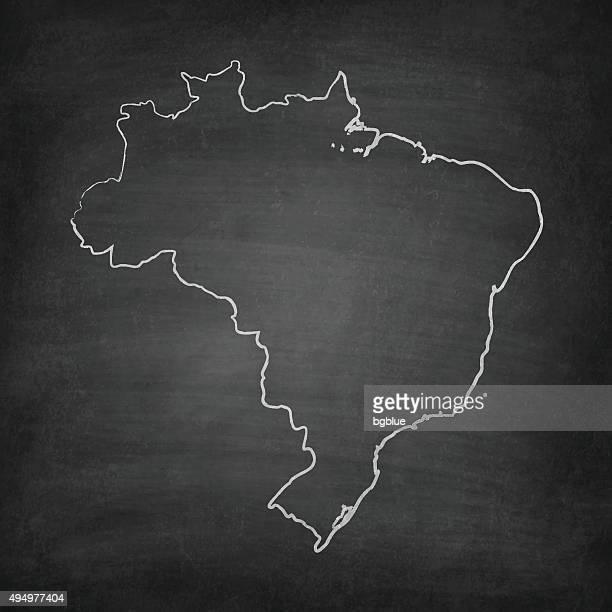 Brasilien Karte auf Tafel-Tafel