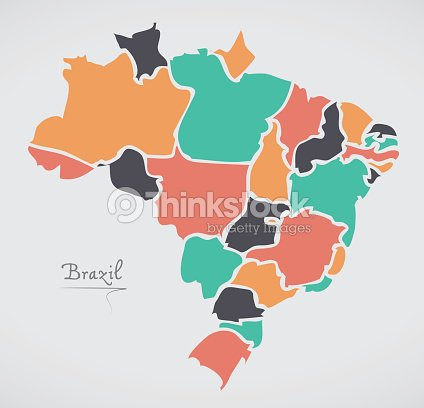 Brazil map with modern round shapes vector art thinkstock brazil map with modern round shapes vector art gumiabroncs Image collections