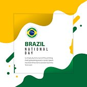 Brazil National Day Vector Template Design Illustration