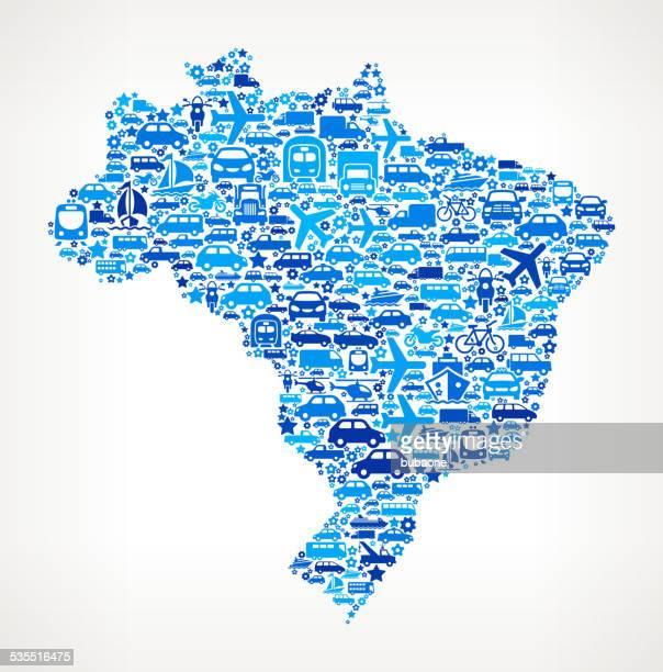 Brazil On Transportation royalty free vector art Pattern