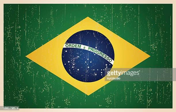 Brasilianischen grunge vintage-Flagge