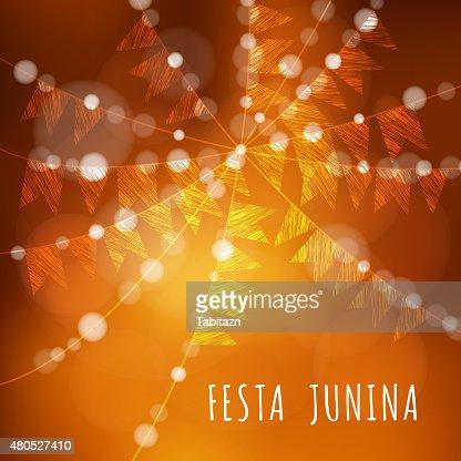 Brazilian june party, vector illustration background : Vector Art
