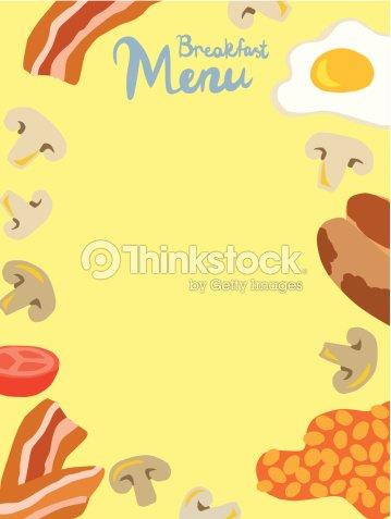 Breakfast menu template vector art thinkstock breakfast menu template vector art maxwellsz