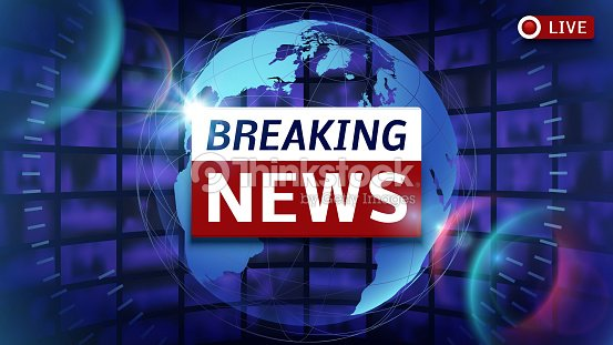 Breaking News Broadcast Vector Futuristic Background With World Map Art
