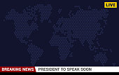 TV Breaking News Screen Background. Vector illustration