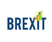 brexit graph sign illustration design over a white background