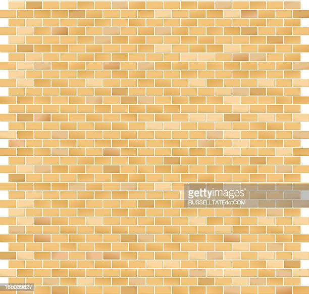 Brick Pattern Large Yellow