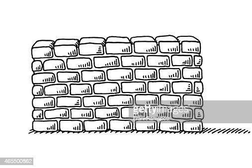 mur de briques de stabilit symbole de dessin clipart vectoriel getty images. Black Bedroom Furniture Sets. Home Design Ideas