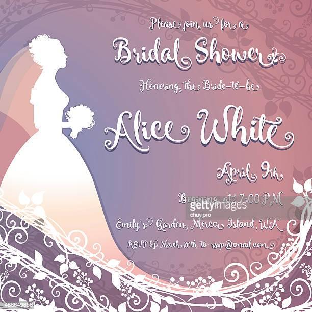Bridal Shower Invitation square card 6 inches