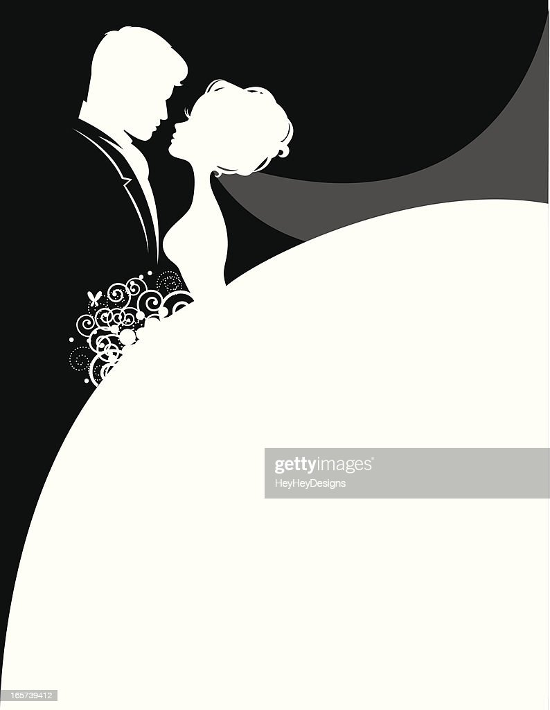 Bride graphic silhouette