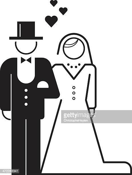 bride and groom – wedding icon