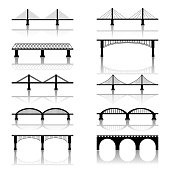 Simple Bridge Vector Icons