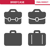 Professional, pixel perfect icons depicting various briefcase concepts.