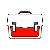 Brifecase icon | Business and Finance - with Outline Filled Style