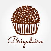 Brigadeiro icon vector. Brazilian sweet candy brigadier design illustration.