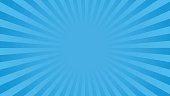 Bright blue rays background with 16 9 aspect ratio. Comics, pop art style. Vector, eps 10