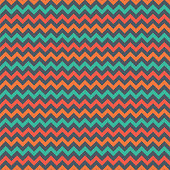 Blue, red, and orange chevron on gray background