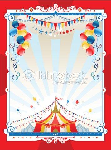 Bright Circus Frame Vector Art | Thinkstock