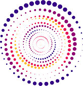 Bright color abstract background in minimalist style made from colorful circles. Business concept for cover decoration of brochure, flyer or report