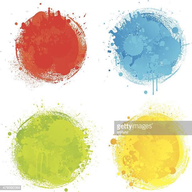 Bright colour splats