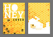 Sweet bright golden honey cover for documents or presentation