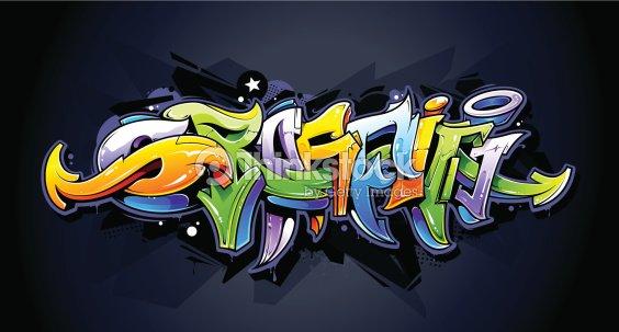 Rotulación graffiti y bien iluminada   Arte vectorial 902934d3860