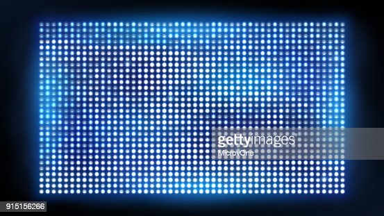 Bright led projection screen. Cinema and entertainment vector display : stock vector