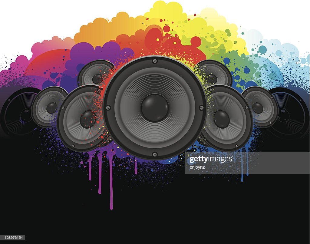 Bright Music background : Vector Art