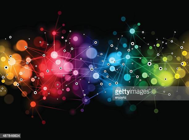 Bright rainbow network