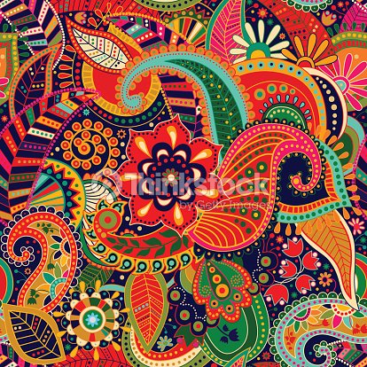French Hand Painted Textile Designs