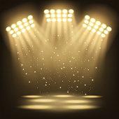 Vector Illustration Of Bright stadium spotlights background