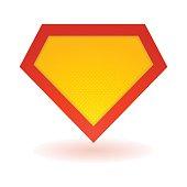Superhero bright logo template. Vector isolated eps10
