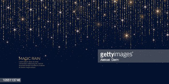Bright vector illustration Magic rain of sparkling glittery particles lines. : Arte vettoriale