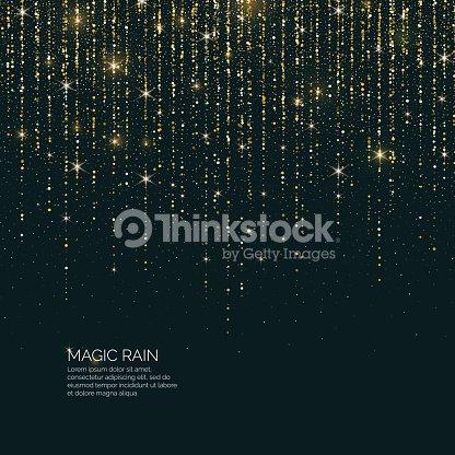 Bright vector illustration Magic rain of sparkling glittery particles lines : stock vector