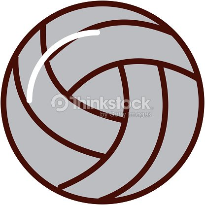 Brightly volley ball cartoon