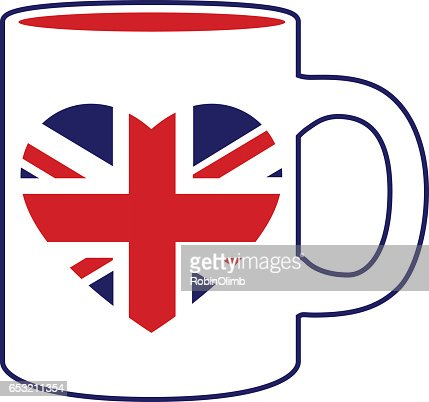 British Heart Flag Coffee Mug : ベクトルアート