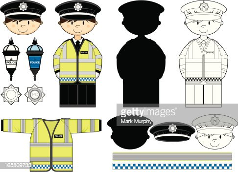 British Policeman Clip Art Vector Art | Getty Images