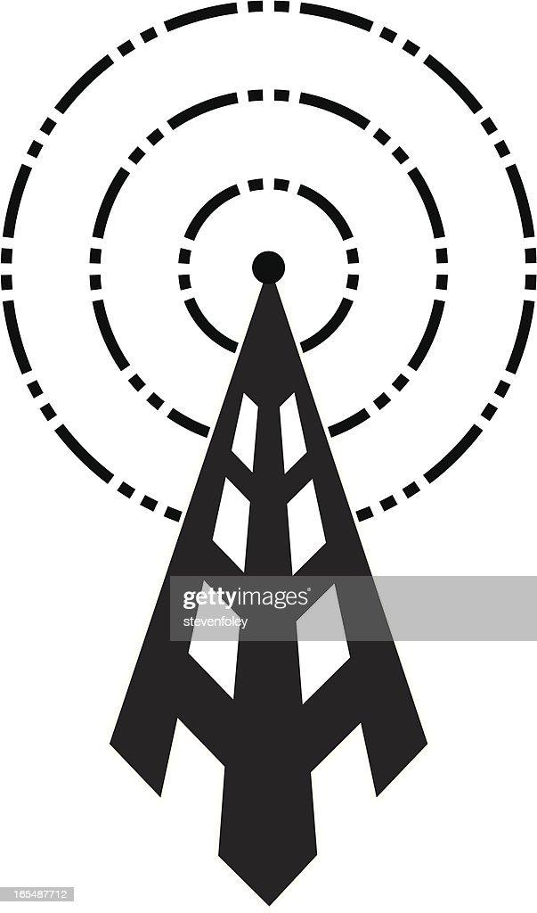 Broadcast Tower Vector Broadcast Tower Vector...