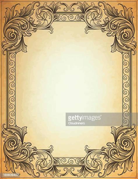 Broadleaf cadre Papier parcheminé