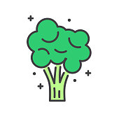 Broccoli line icon on white background for graphic and web design, Modern simple vector sign. Internet concept. Trendy symbol for website design web button or mobile app