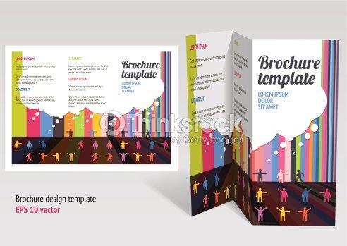 Brochure Booklet Zfold Layout Editable Design Template Vector Art