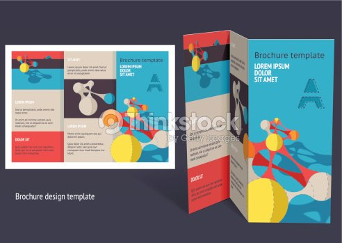 Brochure Booklet Zfold Layout Editable Design Template Vector Art - Editable brochure templates
