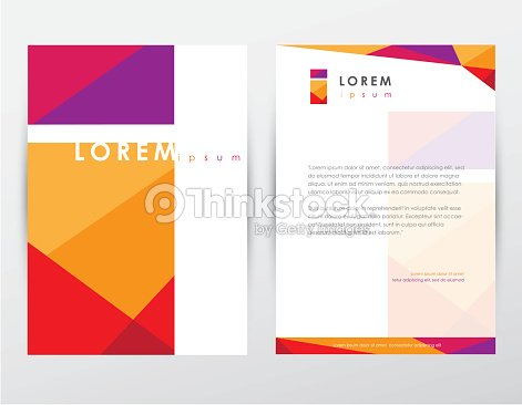 Brochure cover and letterhead template design mockup for business brochure cover and letterhead template design mockup for business company vector art flashek Gallery