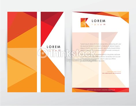 brochure cover and letterhead template design stationery with letter k vector art