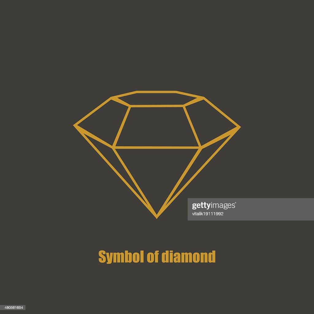 Brochure design template stylish with diamond : Vector Art