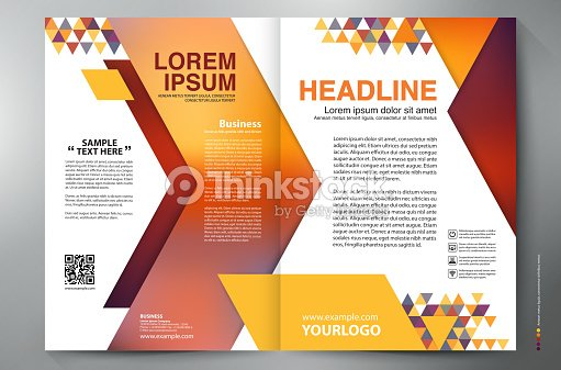 Brochure design two pages a4 vector template vector art for Two page brochure template