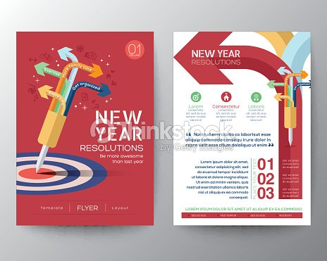 Brochure Flyer Design Layout Template With New Year Resolutions