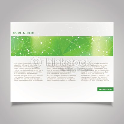 カタログページテンプレートベクトルデザインをテーマにした抽象的な分子
