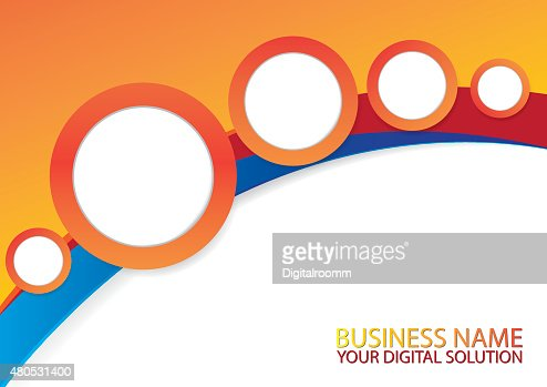 Brochure template design : Vektorgrafik